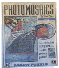 PHOTOMOSAICS Puzzle TITANIC by Robert Silvers Over 1000 Pieces Framed