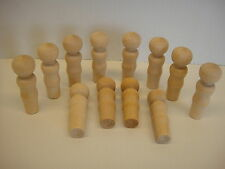 NEW Unfinished Solid Wood Female figure - 2 3/16 Tall - Made in USA - Pack of 24