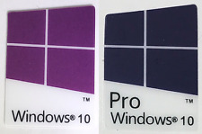 10x/25x/50x Windows 10 Pro & Windows 10 Case Badge Logo Sticker Blue/Purple