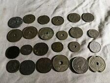 Belgique  lot de 24 anciennes pièces de 1861 à 1959, toutes différentes. Plusieu