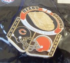 November 1, 2009 Chicago Bears vs Cleveland Browns pin NFL