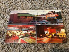 Vintage Chris Maurer's Town House Restaurant 1950's cars Postcard - Denver CO