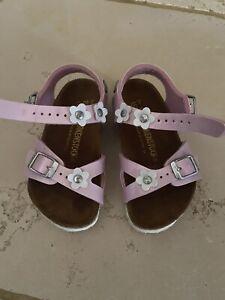 Sandalo Birkenstock Rosa 24 Bambina , Fiori