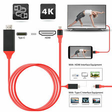 USB-C Type C to HDMI HDTV TV Cable Adapter For Samsung Galaxy S10 Note 9 MacBook