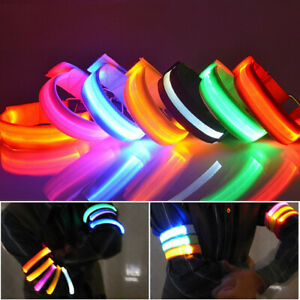 Rechargeable LED Armband USB Flash Light Night Safety Running Walking Cycling