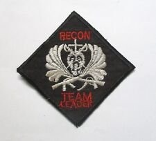 """Patch - 5th SFGrp RT ILLINOIS CCC MACV-SOG """"RECON TEAM LEADER"""" Vietnam War Patch"""