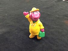 "Barney In Rain Coat 2.5"" Figure!"