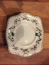 1930s ART DECO PLANT TUSCAN CHINA BIRD OF PARADISE BREAD & BUTTER PLATE