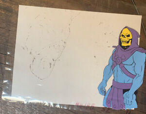 he-man masters of the universe skeletor cel and drawing