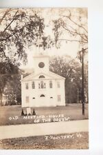 Rood Real Photo PC Size Old Meeting House on the Green  East Poultney  VT