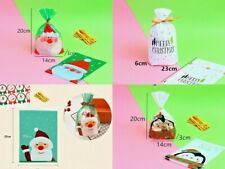 Candy Cookies Xmas Party Bag Gusset With Sweet 20Pcs Favor Wedding Cellophane