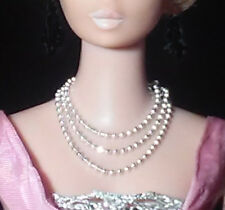 Barbie Dreamz PETITE SILVER SPARKLY 3-Strand Chain Necklace Doll Jewelry