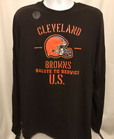 Nike Mens Cleveland Browns Sz Large Salute To Service Long Sleeve T-Shirt NWT