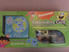 Pacesetter Blues Clues Embroidery Card & 23 Thread  Set Nickelodeon New Brother