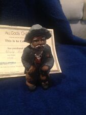 """All God'S Children Figurine By Martha Holcombe """"Uncle Bud"""" #3211"""
