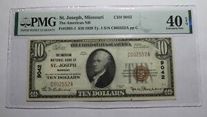 $10 1929 St. Joseph Missouri MO National Currency Bank Note Bill #9042 XF40 PMG