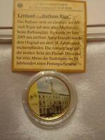 2 Euro Farbmünce  Lettland 2014 mits reinstem Gold 999/1000 veredelt in Farbe