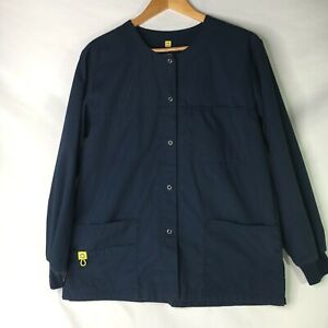 Wonder Wink Navy Blue Scrub Jacket Small Scrubs Style 8006