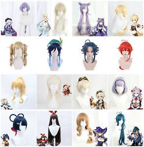 Game Genshin Impact Venti Venti XiangLing Amber Xiao Lisa Keqing Cosplay Wigs