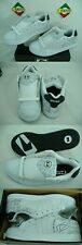 New Mens 12 Globe Focus 3D White Black Leather Skate Shoes $60