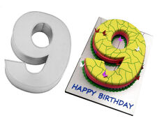 "Small Number Nine 9 Birthday Cake Pan Baking Tin Mold 10""x 8"" by Euro Tins"