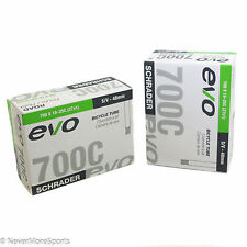 EVO Bicycle Tubes (2-pack) 700 x 18-25c - 48mm Schrader Valve Butyl Rubber 93g