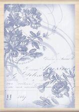 Inkadinkado Wood Rubber Stamp Floral Wood Cut Scrapbooking Stamps