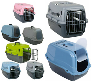 Portable Pet Carry Cage Litter Hooded Toilet House Cat Dog Transport Basket Box