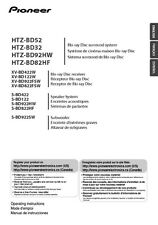 Pioneer HTZ-BD52 Blu-ray System Owners Manual
