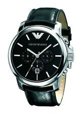Runde polierte Emporio Armani Armbanduhren mit Datumsanzeige