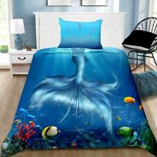 Mermaid Tail Quilt Cover Set + Pillowcase - Single Double Size Bedding