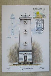 NEW*Estland Eesti_First Day Card 2021_Letipea Tuletorn_Lighthouses_Leuchtturm