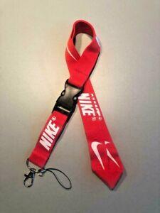 Nike Lanyard Detachable Keychain Badge ID Holder Phone Strap Multi Color