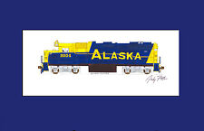 "Alaska Railroad GP49 11""x17"" Matted Print Fletcher signed"