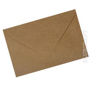50 pack x 5 x 7 inch Brown Ribbed Kraft Envelopes 100gsm  - 133 x 184mm
