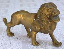 Lion statuette bronze lion rugissant figurine animal roi de la forêt jungle