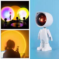 LED Sunset Rainbow Projector Atmosphere Night Light Lamp Wall Decor Light HOT