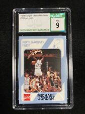1989 North Carolina Michael Jordan Collegiate Collection Rookie CSG MINT 9 #15