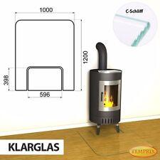 Temprix Funkenschutz & Glasbodenplatte | geteilte Bodenplatte für Kamin & Ofen