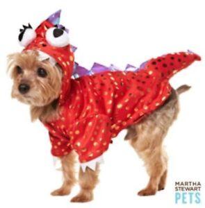 Martha Stewart Red Dragon Monster Halloween Costume For Pets Dog Sz L