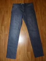 Neue Mango Man Casual Tim Herren Slim Fit Jeans Gr Eur 46 Grau Used Look
