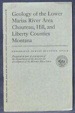 Usgs Montana Geology of the Lower Marias River Area with Huge Color Map!