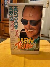 Man trouble ex-rental VHS video tape. Ellen Barkin, Jack Nicholson Roadshow.