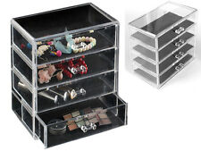 NEW 4 DRAWER COSMETIC JEWELLERY STAND IDEAL FOR MAKE UP WATCHES RINGS EARINGS