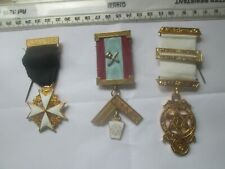 More details for 3x masonic jewels medals badges knights of malta etc