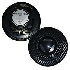 120W Pair Marine/Outdoor Speakers - 2 Way - 6 Inch - Black - Heavy Duty
