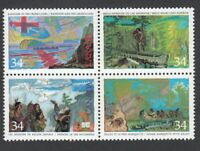 = Exploration of Canada-2 = Canada 1987 #1129a MNH-VF Se-Tenant Block of 4 q01