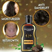 200ml Reverse Grey Hair Darkening Natural Polygonum Women Men Shampoo New U1U5