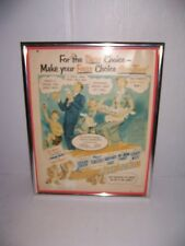 Vintage Post-Tens Cereal Happy Family Bear Cubs Framed Print Ad Advertisement