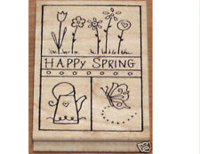 """GREAT IMPRESSIONS """"HAPPY SPRING"""" RUBBER STAMP"""